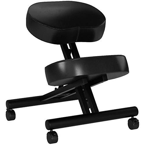 DRAGONN ergonomischer Kniestuhl Sitzhocker & höhenverstellbarer Hocker mit Rollen für Zuhause und Büro - Anti Rückenschmerzen Stuhl für eine optimale Sitzhaltung mit weichem Sitzpolster