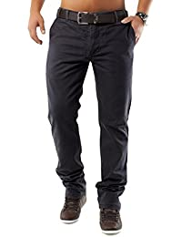 Chino Para hombre pantalones miel DSN ID1159 ajuste recta (diversos colores), tamaño: W29 (etiqueta 38);Colores: negro