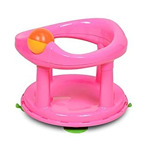 Baby Newborn Infant Water Tub Bath Support Pad Seat Safety 1st Swivel (Pink) 9