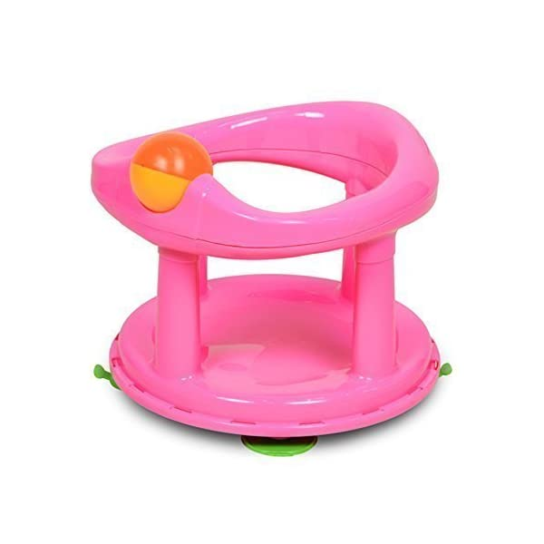 Baby Newborn Infant Water Tub Bath Support Pad Seat Safety 1st Swivel (Pink)