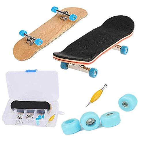 M.O.K Finger Skateboard Kind Spielzeug Mini Finger Bord Skate mit pu rutschfeste pad und professionelle Lager räder für Kind Kinder Geschenk, 1 Paket (Warnung Skateboard Decks)