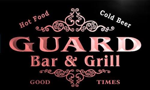 u17995-r GUARD Family Name Gift Bar & Grill Home Beer Neon Light Sign Barlicht Neonlicht Lichtwerbung