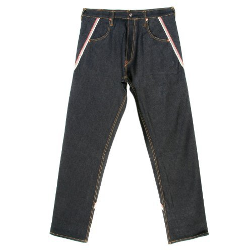 Evisu Jeans Spirale Cut bestickt Pocket Denim Jean evis6357 Gr. 38, schwarz