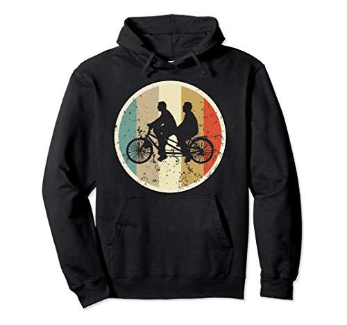 Tandem Fahrrad Biker Radfahrer Radfahren Retro Vintage Style Pullover Hoodie