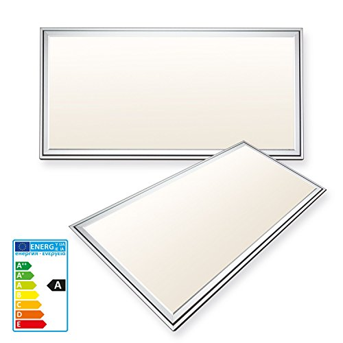 Panel LED ultrafino de 20w LEDVero, 30 x 60 cm, luz blanca cálida