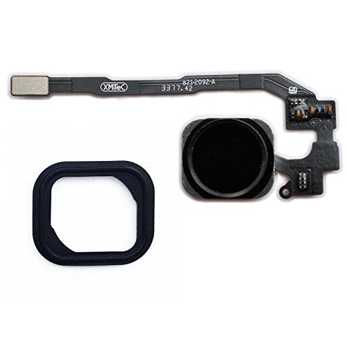XMITEC® Home Button für iPhone 5s / SE Homebutton mit Flexkabel und Gummi Dichtung - schwarz -