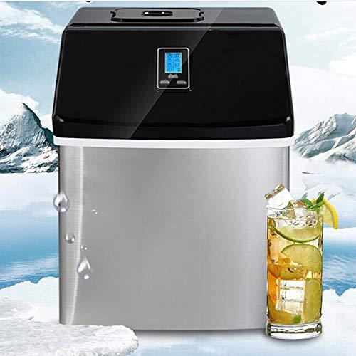 QWERTOUY Gewerbe/Haushalt Eismaschine Milk Tea Shop/Café/Kaltes Getränk Shop-Eiswürfelmaschine Edelstahl-EIS-Maschine