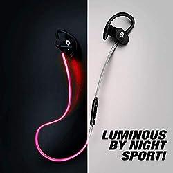 Encore Soul Run ecouteur Bluetooth Lumineux Sport, Marque française 11 h de Son, Batterie Interne. Casque sans Fil Micro. Oreillette Bluetooth Compatible: Apple iPhone iPad, Huawei Smartphone