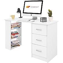 Comifort Escritorios, Mesa de Oficina, Escritorio de Despacho, 120x49x72 cm, Color Blanco
