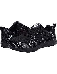 Zapatos de Seguridad para Mujer, Flyknit Punta de Acero Anti Pinchazo Ligero Zapatos Trabajo Reflexivo Botas de Seguridad LM-112