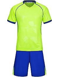 KINDOYO Breathable Short-Sleeved Football Training Suit Men s Football  Training Suit Men s Training Suits 9a04bd617751d
