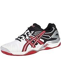 Asics - Zapatillas de tenis para hombre blanco/rojo