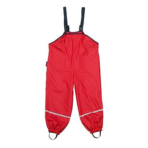 Fleece-trägerhose (Kinder Fleece-Traegerhose rot Gr.116)