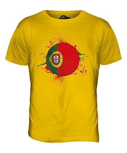CandyMix Portugal Fußball Herren T Shirt Dunkelgelb