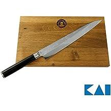 KAI/Palatina Werkstatt Kai Shun Geschenkset Pro SHO VG-0005 Yanagiba Messer 24 cm + Großes Schneidebrett aus Fassholz, 30x18 cm, von Hand Gefertigt