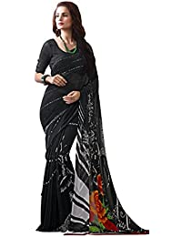 93cb4852d1 Jaanvi fashion Women's Georgette Printed Saree