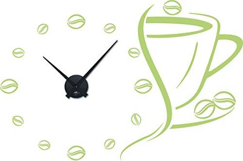 GRAZDesign 800632_BK_822 Wandtattoo Uhr Wanduhr mit Uhrwerk für Küche Kaffee-Bohnen Tasse Bohnen |...