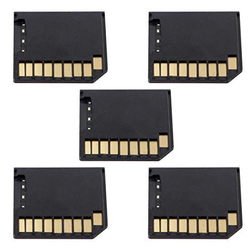 Mini Adapter Micro SD TF auf SD Card Kit Mini Adapter Low Profile für zusätzlichen Speicher MacBook Air Pro Retina schwarz 5 Stück - Low-profile-speicher-kit