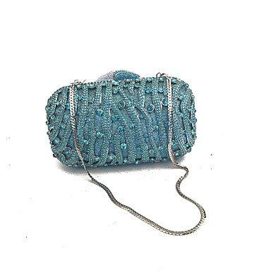 SUNNY KEY-Pochette e Clutch@Borse di cristallo frizione di sera femminile scolpite a mano fuori frizioni sera BLUE