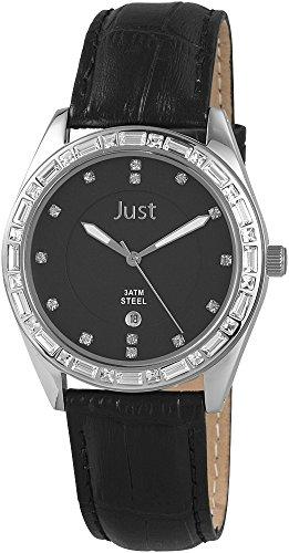 Just Watches 48-S8262A-BK - Orologio da polso donna, pelle, colore: nero