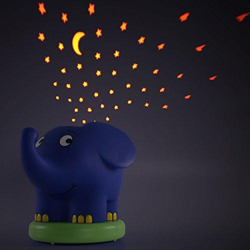 Imagen 5 de Ansmann 1800-0015 - Proyector de luz nocturno con estrellas en forma de elefante