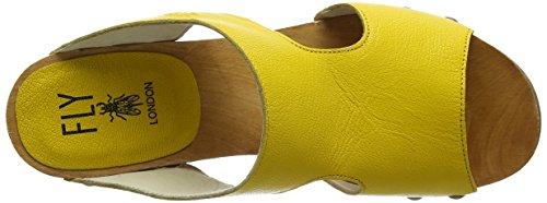 FLY London Damen Rhia995fly Open Toe Sandalen Gelb (lemon 003)