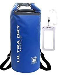 Premium Waterproof Bag, Sack with phone dry bag and long adjustable Shoulder Strap Included, Perfect for Kayaking/Boating/Canoeing/Fishing/Rafting/Swimming/Camping/Snowboarding