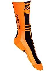 Calcetines ciclismo Proline negro y naranja de compresión - 1 par
