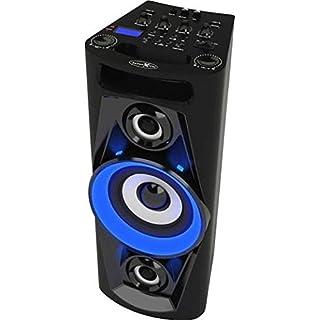 Reflexion PS07BT Mobile Discosoundmaschine (inkl. Bluetooth, Radio, 2x USB, AUX-IN, Karaokefunktion und Akku) schwarz