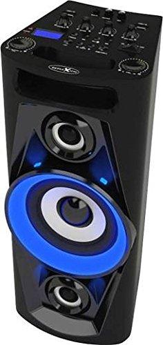 Großes Mobiles (Reflexion PS07BT Mobile Discosoundmaschine (inkl. Bluetooth, Radio, 2x USB, AUX-IN, Karaokefunktion und Akku) schwarz)