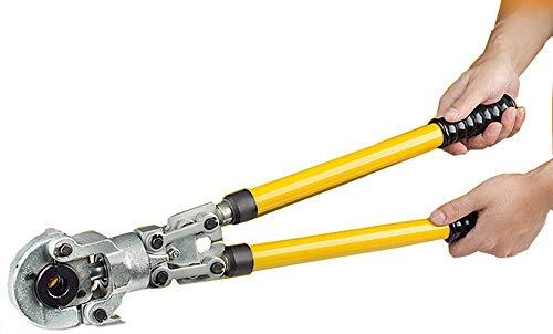 CGOLDENWALL Crimpadora Hidráulica Manual CW-1632 Alicate de Engarzado Hidraulico 6T φ16-32mm con Asa Extensible para Tubo de Cobre / Aluminio / Plástico / Pex / PB