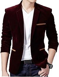 BiSHE Herren Corduroy Blazer Anzüge Mantel Baumwolle Smart formales Abendessen Anzugjacke