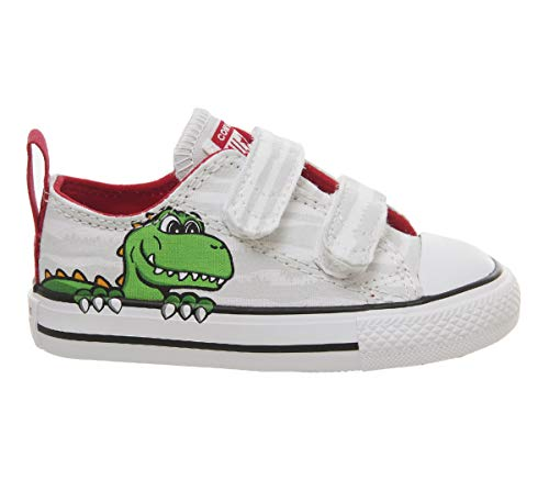 Converse Chuck Taylor All Star 2V OX 763573C Kleinkinder-Schuhe White/Mouse/Enamel Gr. 23 (US 7)