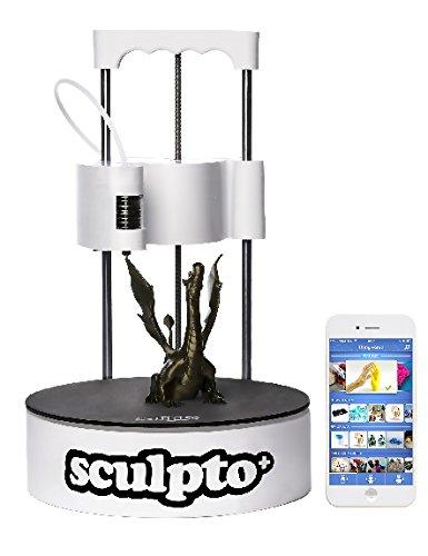 Sculpto+ 3D Drucker, komplett montiert mit Wi-Fi, iOS und Android Konnektivität - Lautlos - Plug&Play Drucker, großen Bauvolumen