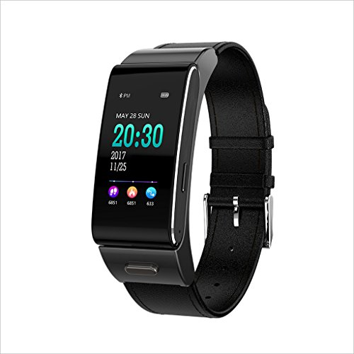 XHZNDZ Fitness Activity Tracker, Smart Watch mit Pulsmesser Wireless Waterproof IP67 Armband HR Armband Schrittzähler Tracking Schritte Schlaf IOS und Android Smartphones (Farbe : Schwarz)