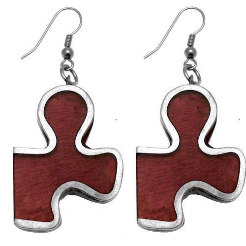 Acosta - morado de piezas de Puzzle acrílico - Juego de pendientes de ovillo de Fashion