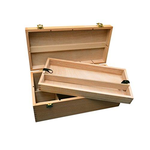 Künstler-Aufbewahrungsbox aus Holz, mit 8Fächern und Schublade -