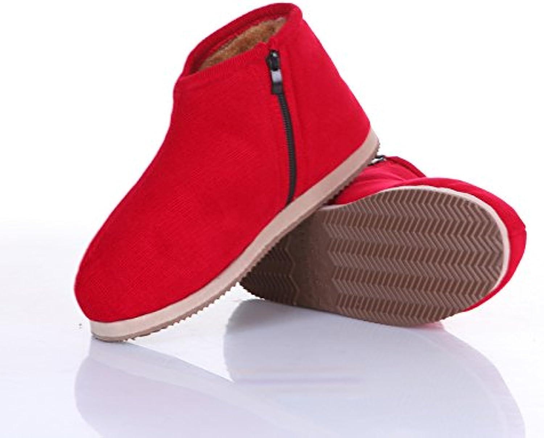 LaxBa Slippers laxba Ladies 'Cachemira algodón de punto antideslizante para casa slippersredrecommended Hombres... -
