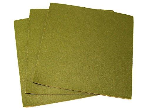 Minerva Crafts Dos Adhésif Feutrine Acrylique Adhésive 45,7 cm carré Vert Mousse - par Lot de 100