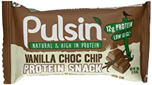 Pulsin' Protein Snack - Vanilla Choc Chip 18 x 50g bars | Gluten Free | Vegan | Dairy Free