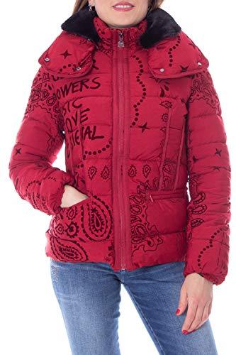 Desigual Abajo Chaqueta Corto Mujer Small Rojo
