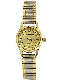 Philip Mercier Ladies Goldtone Dial Two Tone Expander Bracelet Strap Watch MC73B