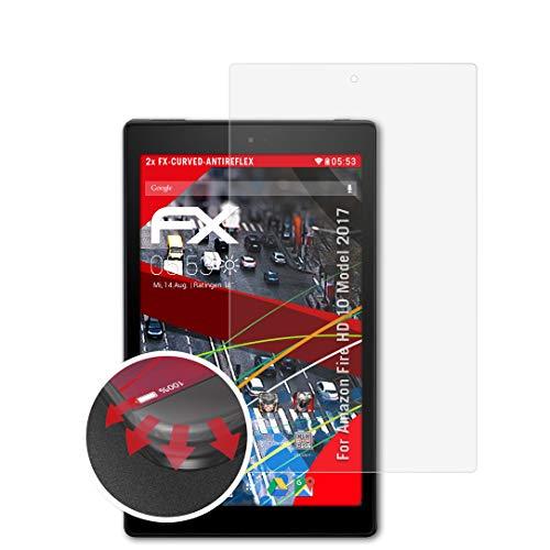 atFolix Schutzfolie passend für Amazn F¡re HD 10 Model 2017 Folie, entspiegelnde & Flexible FX Bildschirmschutzfolie (2X)