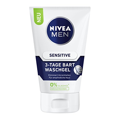 Nivea Men Sensitive 3-Tage Bart Waschgel, 2er Pack (2 x 100 ml)