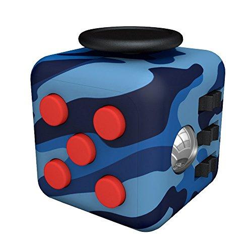 #Tepoinn Stresswürfel Zappeln Cube Würfel vergleichbar wie Fidget Cube mit 6 unterschiedliche Funktionen entlastet Stress und Angst Spielzeug Geschenke für Kinder und Erwachsene mit  Blaue Tarnung#