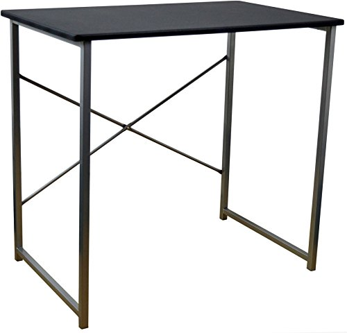 Harbour Housewares Computer, Laptop Wooden Desk - Black