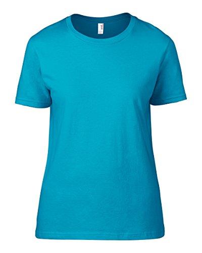 Anvil Damen T-Shirt Karibikblau