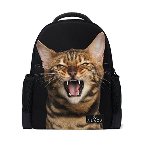 My Daily Angry Bengal Katze Rucksack 35,6cm Laptop Daypack Schultasche für Reisen College Schule (Bengals-rucksack)