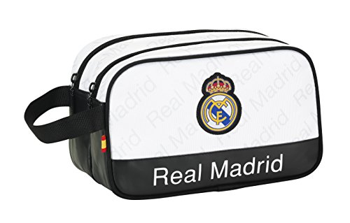 Safta Real Madrid Neceser Adaptable, Color Blanco