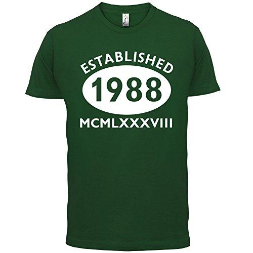 Gegründet 1988 Römische Ziffern - 29 Geburtstag - Herren T-Shirt - 13 Farben Flaschengrün